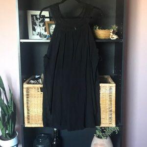 Free People Black Crochet Tank Dress